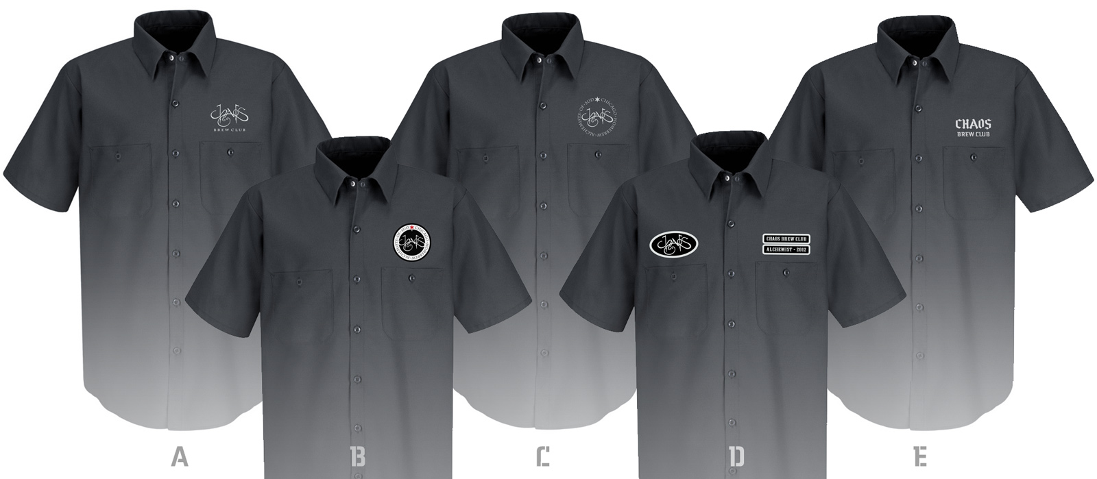 Chaos brewery style work shirts chaos brew club for Design a work shirt